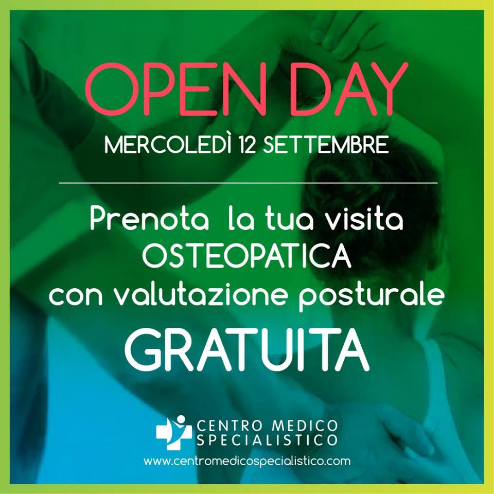 Open Day 12 Settembre 2018