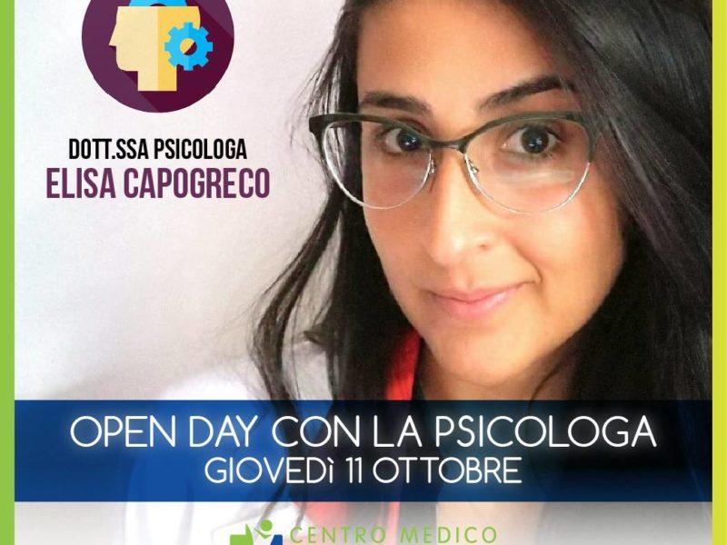 Open Day con la psicologa